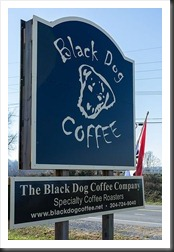 Black Dog Coffee Sign