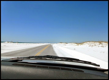 Sand along Road to Fort Pickens