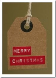 Christmas Tag using Dymo Tape