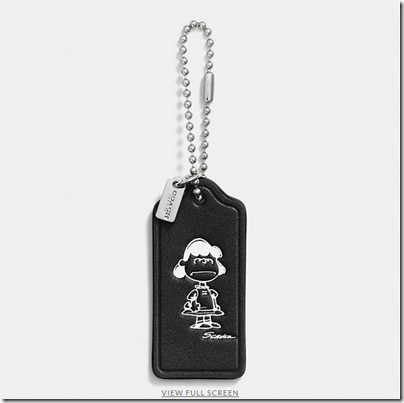 COACH X Peanuts leather hangtag - USD 20 - black 08
