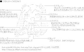 [AA]ミクさんやっつのひみつ (ボーカロイド)