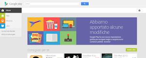 nuovo Google Play Store