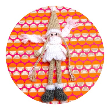 Crocheted Christmas Doll by Helena Haakt