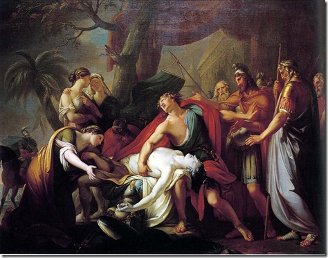 Achilles Mourning Patroclus-Hamilton