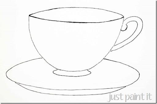 e Kaffee-Tasse und Unt...