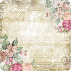 vintage flowers with lace sample