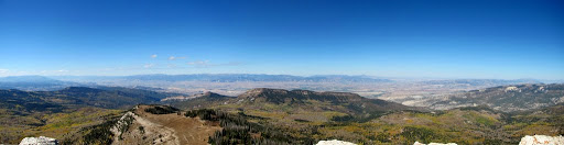 Panorama of the Sevier and Sanpete valleys