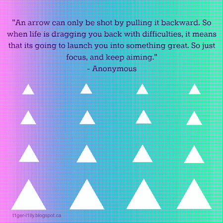 Life's an Arrow Quote