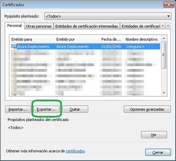 Exportar Certificado a PFX