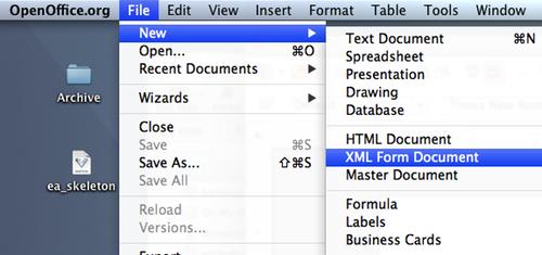 11 New XML Form