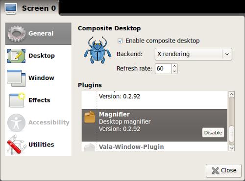 Cairo Composite Manager su Lubuntu