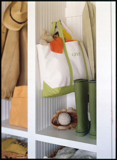 If you're short on space, designate a tote bag or basket and keep it in a closet so that unwanted items can go right inside.