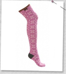 #832 jacquard long socks royal