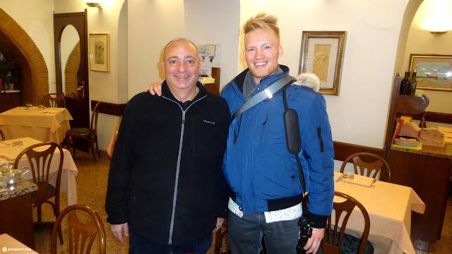 the owner of La Tavernetta da Elio in Milan, Milano, Italy