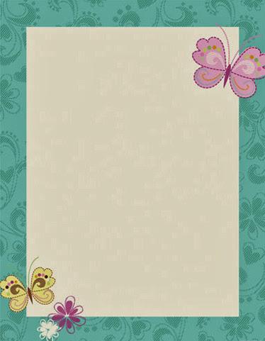 Butterflies flowers printer paper