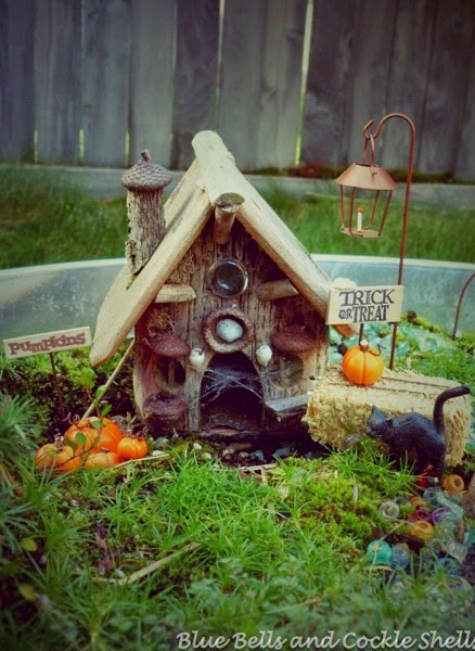 A Spooky Halloween Fairy Garden | From Blue Bells and Cockle Shells