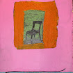 """Many Color Chair"" Foil/Painted Paper/Found Object"