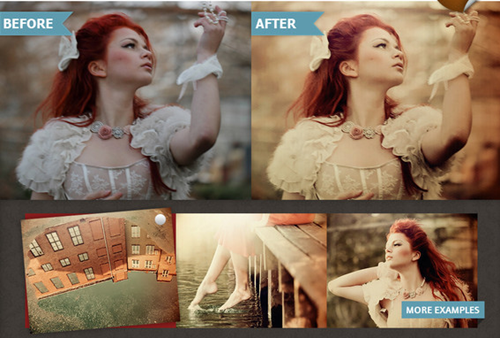 photoshop vintage action