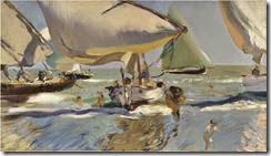 Barcas en la playa (1909). Joaquín Sorolla (1)