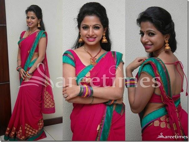 Akshara_Menon_Pink_Saree