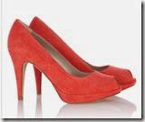 Karen Millen Coral Suede Peep Toe Shoe