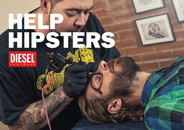 Diesel publicidad hipster