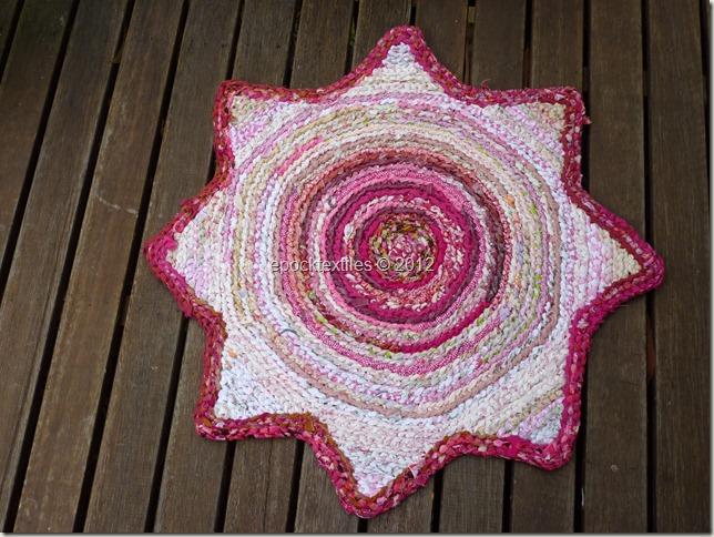 pink & white star