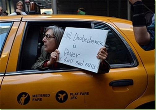 occupier in a cab