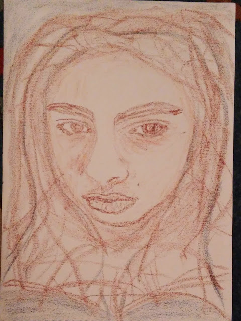 Enid - Pastel sobre lienzo. Douglas Chadiz