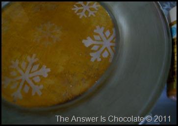 Snowflake Plate Closeup
