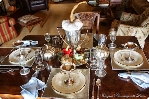 Fall Table-Bargain Decorating with Laurie