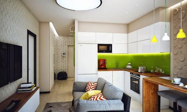 apartamento-diseño-color-verde-lima