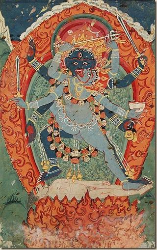 Kali Bhairava hinduismo infierno ateismo