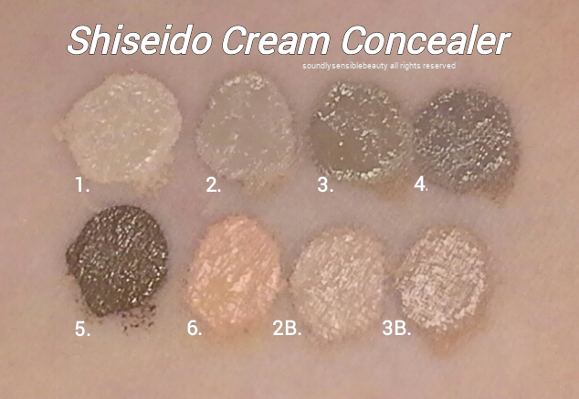 Shiseido Natural Finish Cream Concealer; Review & Swatches of Shades;