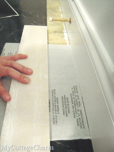 how to cut edge tiles on peel and stick floors