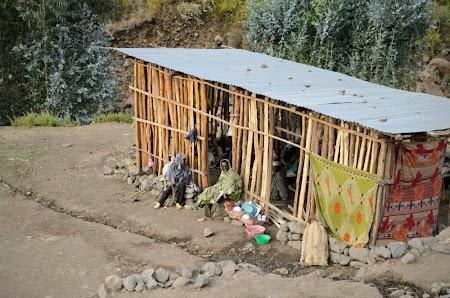Muntii Simien - Etiopia: Bucataria la camparea din Ambiquo