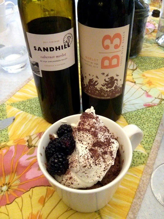Sandhill Cabernet Merlot & B3 Merlot with Chocolate Mousse
