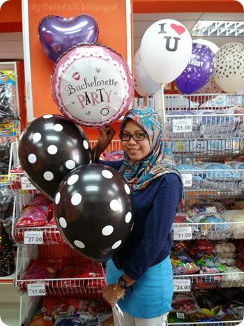 helium balloons penang kedah bridal shower party