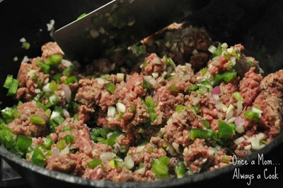 Ground Beef, Onions, and Green Peppers