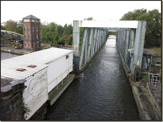 The Bridgewater Canal crosses the Ship Canal