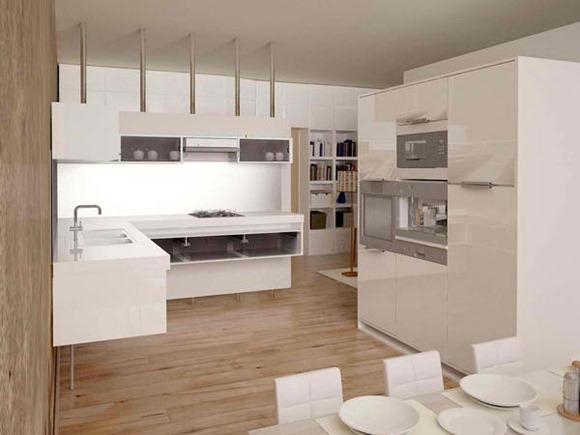 15 Diseños de cocinas blancas - iDecorar