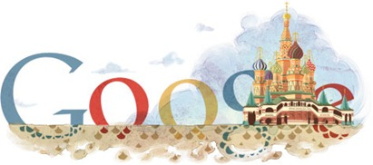 450th Anniversary Of St. Basil's Cathedral-Google Logo
