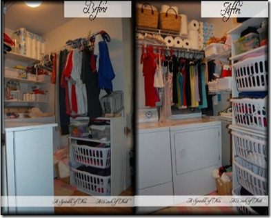laundry room before after comparison