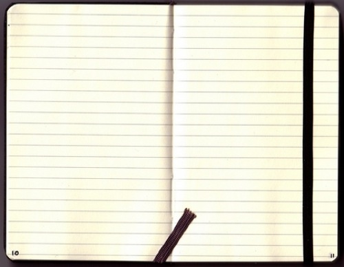 Moleskine ruled notebook inside view std