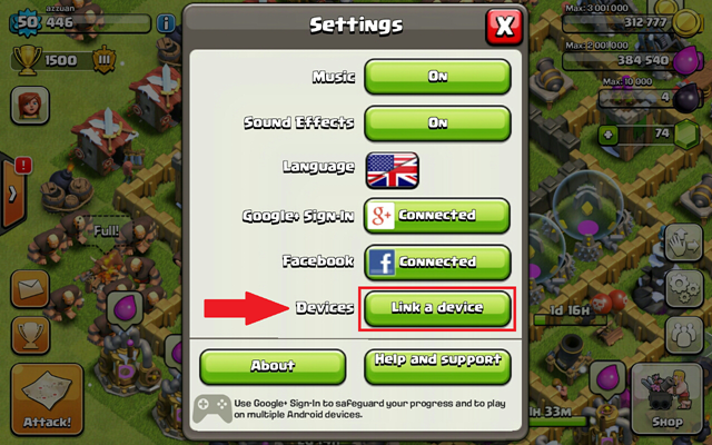 2 import clash of clans to iphone, ipad or android
