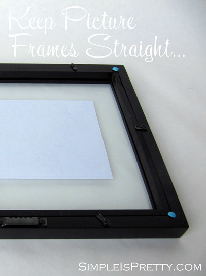 simpleispretty.com: Keep Picture Frames Straight