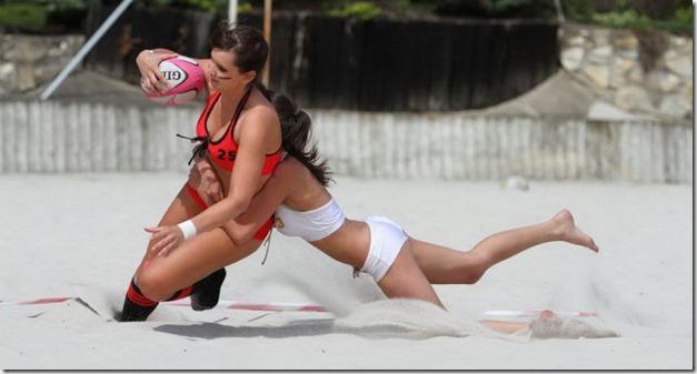 futbol? no papu esto es rugby femenino!