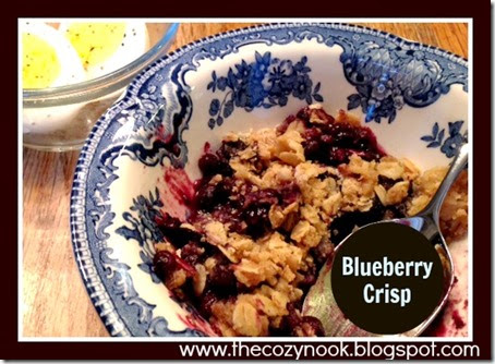 Blueberry Crisp - The Cozy Nook
