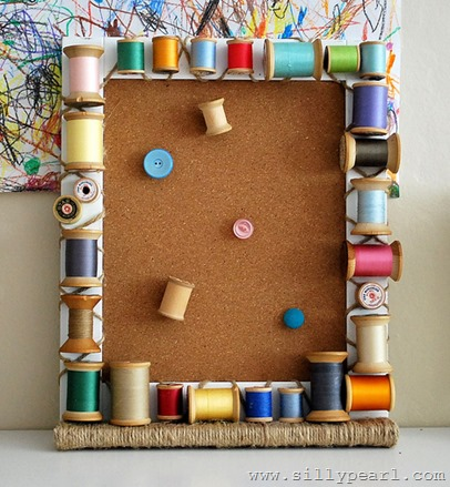 Vintage Wood Spool Cork Board - The Silly Pearl