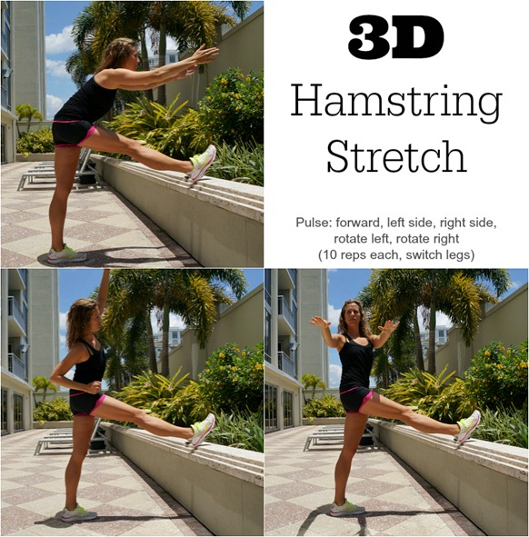 3D Hamstring Stretch for runners